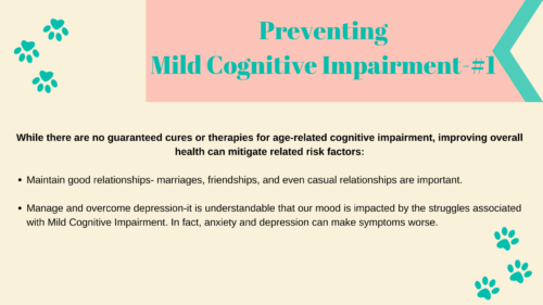 Preventing MCI and Dementia